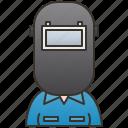 industrial, mechanic, technician, welder, worker icon