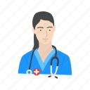 female medic, female nurse, medic, nurse icon