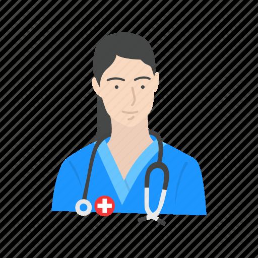 female medic, female nurse, medic, nurse icon