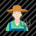 farm, farmer, plants, female farmer