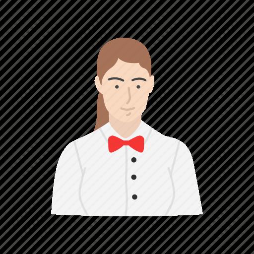 maid, servant, waiter, waitress icon