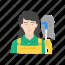 clean, female janitor, janitor, custodian