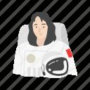 astronaut, cosmonaut, female, female astronaut icon