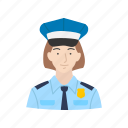 female, police, police woman, woman icon