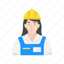 construction, construction worker, female, female construction worker icon