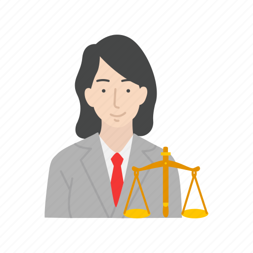 attorney, female, female lawyer, lawyer icon