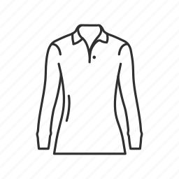 clothes, collared shirt, girls clothes, girls collared shirt, girls shirt, long sleeve shirt, shirt icon