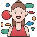 bouldering, cliff, climber, female, spots icon