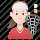 women, lacrosse, uniform, player, sport