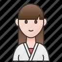 female, fighting, karate, kungfu, practice