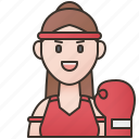 boxing, muay, thai, traditional, woman