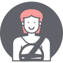 avatar, driving, female, woman icon