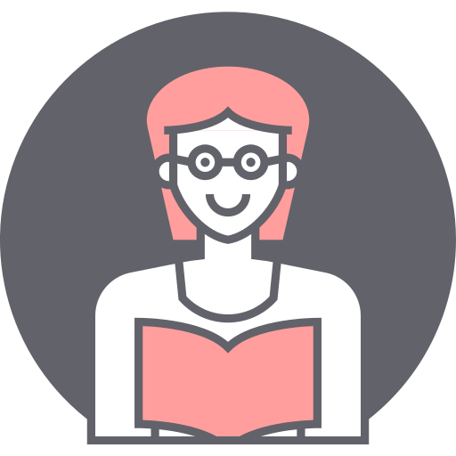 avatar, female, reading, woman icon