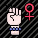 female hand, feminism, supporter, feminist, sign