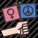 peace, feminine, feminism, feminist, peaceful, campaing, peace sign