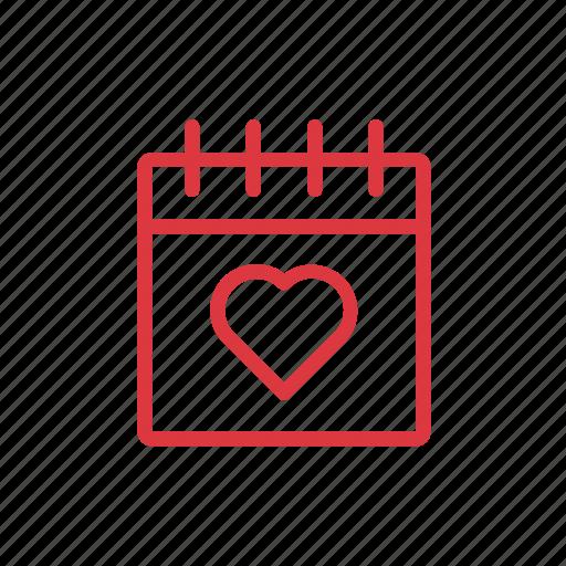 .svg, calendar, desk, love, lover icon