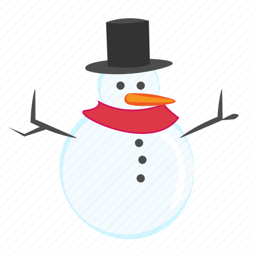 character, christmas, ice, snowman, winter icon
