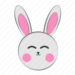 bunny, christmas, cute icon