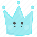 cold, crown, cute, face, ice, queen, snow icon