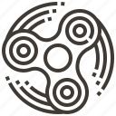 spinner, fidget spinner, toy icon