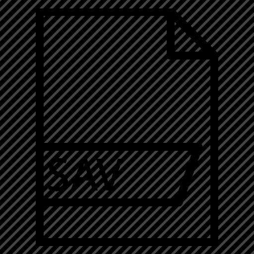 data, file, folder, format, sav icon