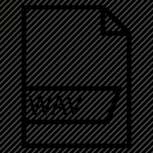 data, file, folder, format, wav icon