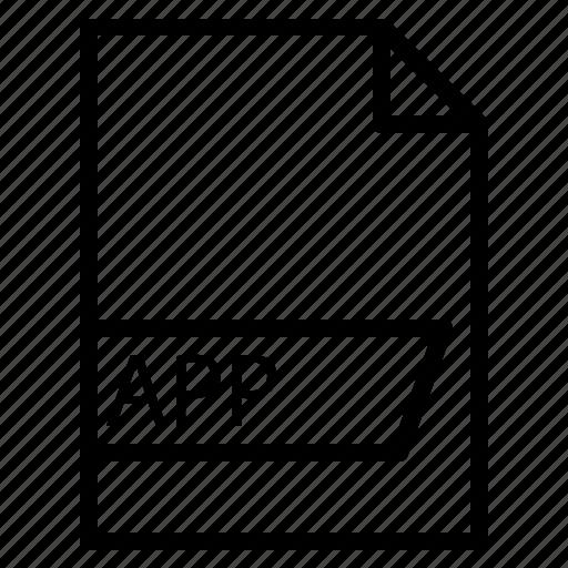 app, data, file, folder, format icon