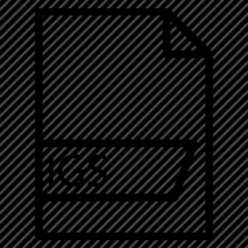 data, file, folder, format, igs icon