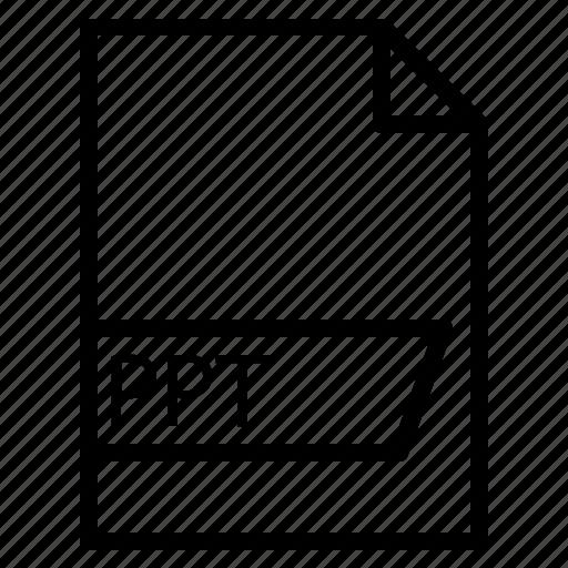 data, file, folder, format, ppt icon