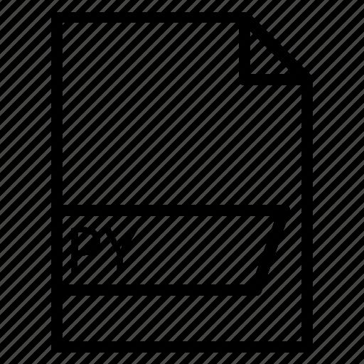 data, file, folder, format, py icon
