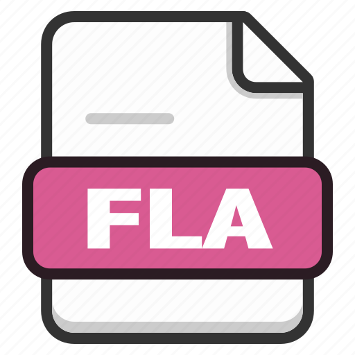 document, documents, file, files, fla, format, page icon