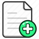 add, document, documents, file, files, format, text icon
