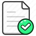 document, approve, files, text, documents, file icon