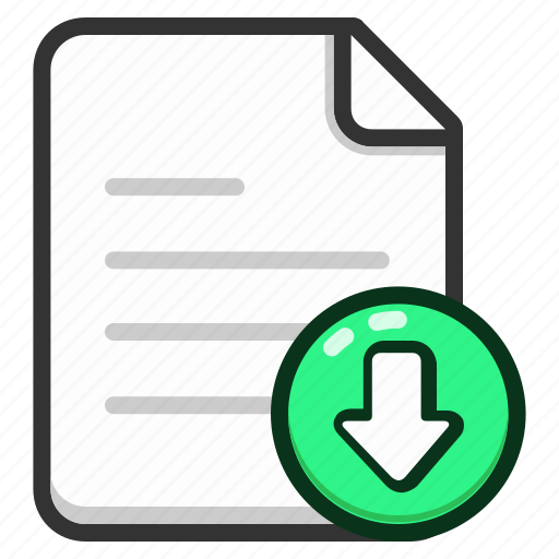 document, documents, download, file, files, text icon
