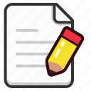 document, documents, edit, file, files, page, write icon