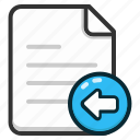 document, documents, file, files, import, page icon