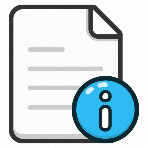 document, documents, file, files, info, information, text icon