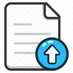 document, documents, file, files, format, page, upload icon