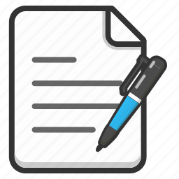 document, edit, file, pen, text, write, writing icon
