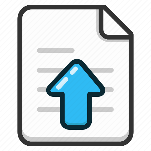 document, documents, file, files, text, upload icon