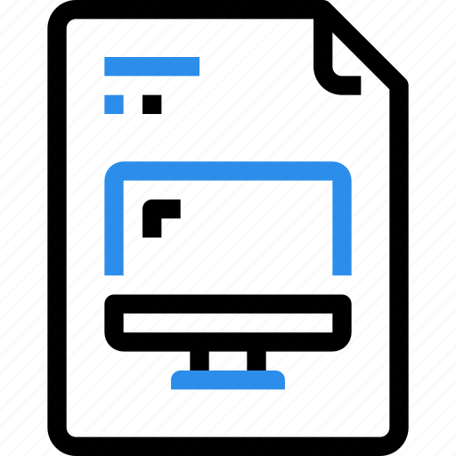 computer, device, digital, document, file, file type, format icon
