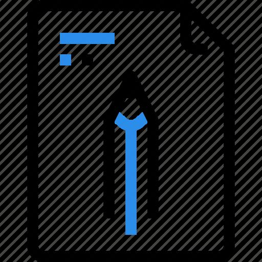 education, file, file type, format, pen, pencil, schooldocument icon