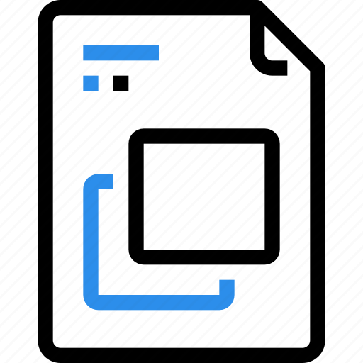 document, file, file type, format, frame, layer icon