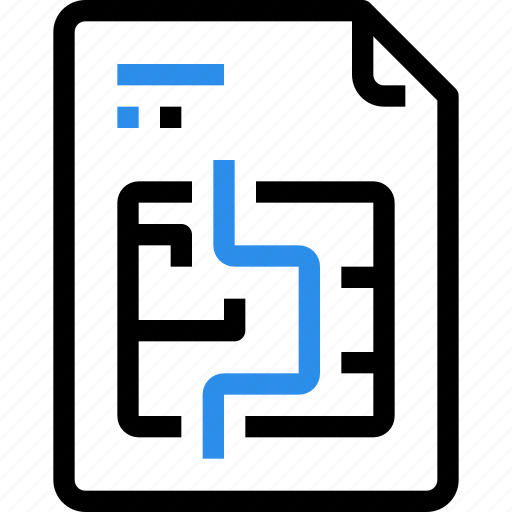 document, file, file type, format, question, solution icon