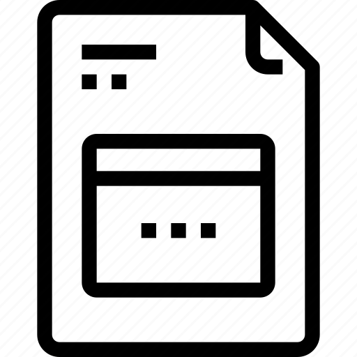 business, data, document, file, paper, process, type icon