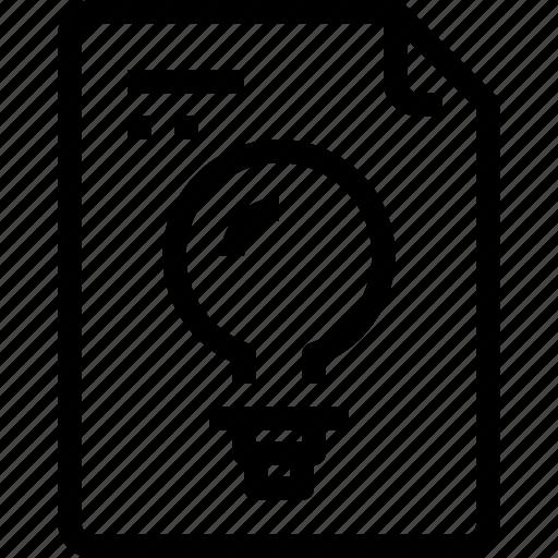 business, data, document, file, idea, paper, process, type icon