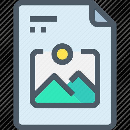 document, file, image, media, paper, photo icon