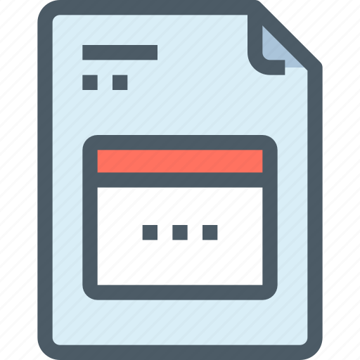 development, document, file, paper, programming icon