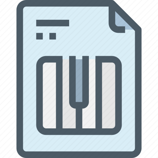 document, file, music, paper, piano, song icon