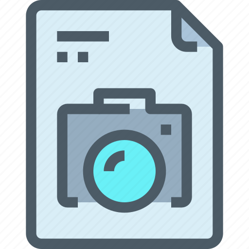 cam, camera, document, file, image, paper icon